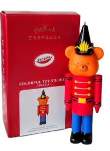 Hallmark 2021 Crayola Colorful Toy Soldier Ornament