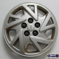 "'00-'01 PONTIAC SUNFIRE, USED 14"" HUBCAP, 5 V SPOKES,  RAISED LOGO,  5118"