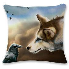 New Wolf Car Throw Cushion Pillow Cover Pillowcases Home Decor Christmas Gift