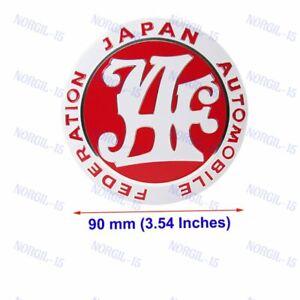 Japan Automobile Federation JDM JAF RED Emblem Badge For Toyota Front Grille New