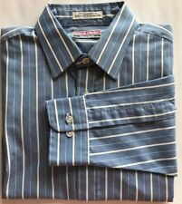 Pierre Cardin Men Dress Shirt Blue White Stripe Long Sleeve 15 1/2 39/49 Canada