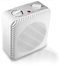 Portable Space Heater 3-Speed Electric Fan Forced W/ Adjustable Thermostat 1500W