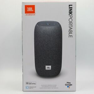 JBL Link Portable Wi-Fi Bluetooth Speaker with Google Assistant Gray