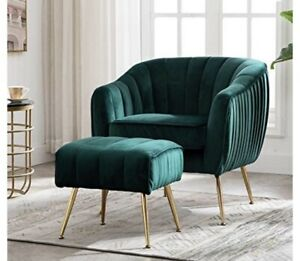 suede green accent chair sofa couch