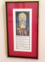 CUALA PRESS  SUSAN L. MITCHELL A NURSERY SONG FOR CHRISTMAS EVE, Framed