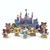 littlest pet shop toys lps dogs + Puzzle Castle lot Collie dog with accessories