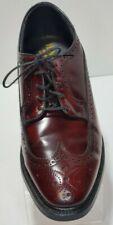 Vintage Hanover Masterflex Burgandy Leather Oxford Wingtips Men's Shoe 12 D