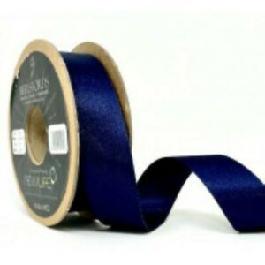 Navy Blue Satin Ribbon by Berisfords Newlife Global 100% Recycled Standard