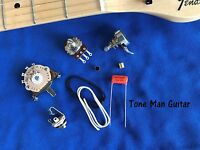Telecaster Guitar Wiring DIY Kit .022uf Orange Drop Cap Pots Switch Cloth Wire