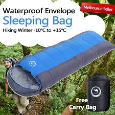 Bargain Outdoor Camping Envelope Sleeping Bag Thermal Hiking Winter Single -10°C