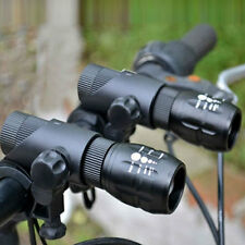 2X 2000LM 3 Modes Zoomable Q5 LED Flashlight Cycling Bike Front Light w/ Mount