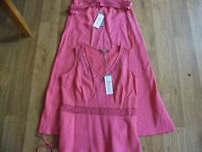 Ladies size 12 Cerise Linen mix skirt suit BNWT