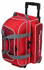 Storm 2 Ball Roller Bowling Bag with Wheels Color Red Crackle NEW