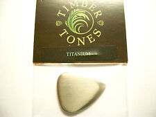 Timber Tones Metal Tones Mini Pick Metallo Plettro Titanium