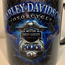 New HD Harley Davidson POLICE Badge Eagle Bar Shield COFFEE MUG Motorcycle Cup#1
