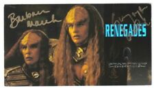 Star Trek Generations Duras Sisters Dual Autograph Card