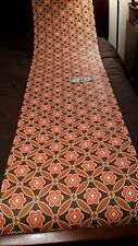 Roll Authentic 1960s-'70s Wallpaper, Pop Art Funky Psychedelic - Orange, Brown