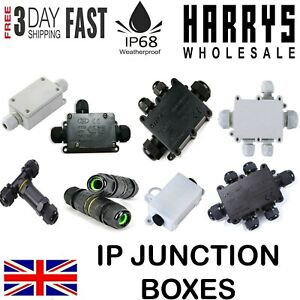 WATERPROOF JUNCTION BOX CASE ELECTRICAL CABLE WIRE CONNECTOR OUTDOOR IP66 IP68