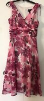 Connected Apparel Floral Dress Sz 12🍃🌺🍃Cocktail Sleeveless🌸 Flared Elegant🌺