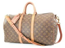 Authentic LOUIS VUITTON Keepall Bandouliere 45 Monogram Canvas Duffel Bag #37230