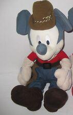 "Mickey Mouse Indian Summer Grey Cream 17"" Cowboy Disney Store RARE"