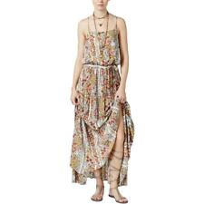 Free People 6451 Womens Valerie Green Floral Print Tiered Maxi Dress XS BHFO
