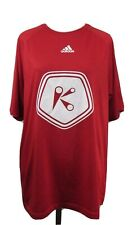 Adidas Red Climalite Chick Fil-A Short Sleeve Shirt S