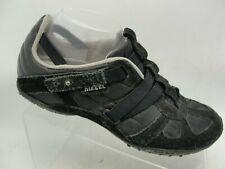 DIESEL Women's Slip-on Sneaker Sz 9 Black Suede Leather Walking Shoe
