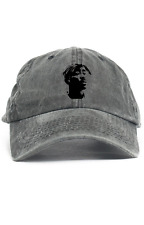 2Pac Bandana Custom Unstructured Dad Hat Cap Rapper Legend New-Black Denim