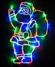 NEW CHRISTMAS SANTA 50 LED MULTI COLOUR WINDOW DECORATION LIGHTS