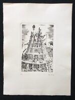 Franz Deckwitz, Zum Schutze der Freiheit, Radierung 1960, handsigniert