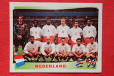 Panini EURO 96 N.76 TEAM NEDERLAND New With BLACK back TOPMINT!!