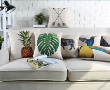 Triangles deer rhino giraffe toucan pineapple monstera Cushion Cover pillow Case