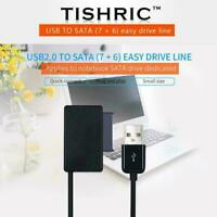 USB to 7+6 13 Pin Slim SATA/IDE CD DVD Rom Optical L8R4 Drive Adapter Cable X3S5