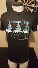 Vintage 80s Hampton Beach New Hampshire Aus-Tex Black 50-50 T-Shirt Sailboat