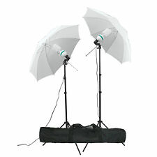 Studio 135W Photography Lamp Umbrella Light Stand Set Continuous Lighting Kit