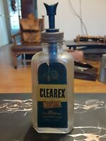 RARE 1941 CLEAREX Vintage Glass Cleaner Pump Union Spray Glass Bottle Art Deco