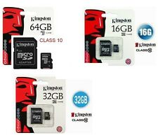 MICRO SD KINGSTON 4GB 8GB 16GB 32GB 64gb SECURE DIGITAL MEMORIA ADATTATORE PEN