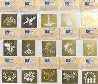 Brass Stencil Template Birch scrapmaking papercraft embossing diecut 15 designs