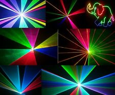 PRO ANIMATION LASER  DISCO DJ NIGHTCLUB LIGHT FULL COLOUR RGB RED GREEN BLUE