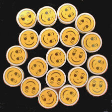 20 Peruvian Ceramic 11 mm SMILEY HAPPY FACE DISK BEADS