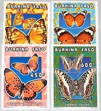 BURKINA FASO 1996 1410-13 1069-72 Butterflies Schmetterlinge Insects Fauna MNH