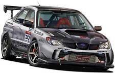 Subaru WRX STI Time Attack Turbo Fire Cartoon Vexel Wall Graphic Decal Man Cave