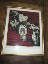 SUPER FRAMED 1960S PRINT OF A ARISTOLOCHIA FLOWER SIGNED JACKSON 1 OF 20 65