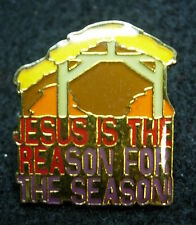 Jesus is the reason for the season Hat Lapel Pin HP0063