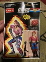 Funskool India Gijoe 2002 Cobra Zarana Red Gloves variant Moc W Open Blisters