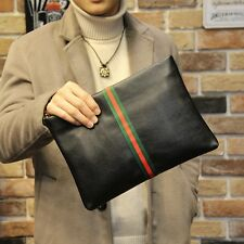 Black Classic Men Clutch Bag Zipper Small Handbag Envelope Bag Fashion Phone Bag