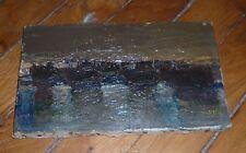 Winsberg Jacques huile sur toile signée art abstrait Taureau Camargue