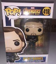 Funko POP! Winter Soldier Bucky Barnes w Weapon #418 Infinity War Figure Marvel