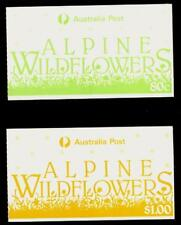 Australia 1986 Set of 2 Booklets Alpine Wildflowers (80c & $1) White Paper